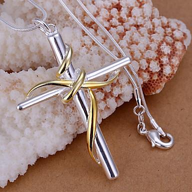 Wisiorki Kryształ górski Cross Shape srebrny 1