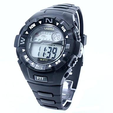 Herrn Digitaluhr / Sportuhr Japanisch Armbanduhren für den Alltag Silikon Band Charme Schwarz