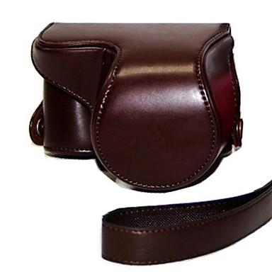 piele dengpin® geantă de protecție aparat de fotografiat model capac sac de oaie cu curea de umăr pentru Sony NEX-3n cu lentile 16-50mm