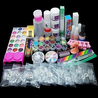voordelige Nagelgereedschap & Apparatuur-82pcs acryl poeder vloeibare borstel primer bestand uv lijm nagel set kits