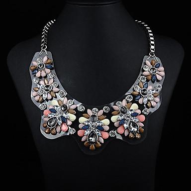 acrilic bord piatră prețioasă colier bijuterii JQ femei