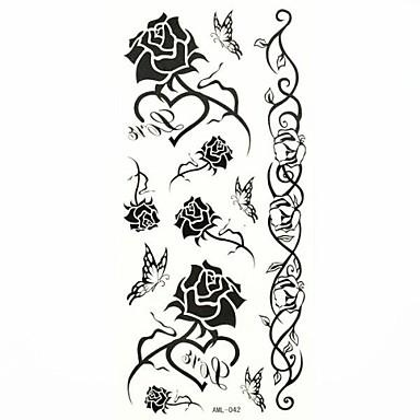 #(1) Model Waterproof Serie de Flori Acțibilde de Tatuaj