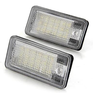 Пара автомобиль номерного знака лампочки белые 18 SMD LED фары 12v для Audi A3 A4 8E RS4 a6 rs6
