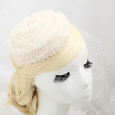 Krystall / Künstliche Perle / Spitze Tiaras / Fascinatoren / Hüte mit 1 Hochzeit / Besondere Anlässe / Party / Abend Kopfschmuck / Baumwollflanell / Stoff