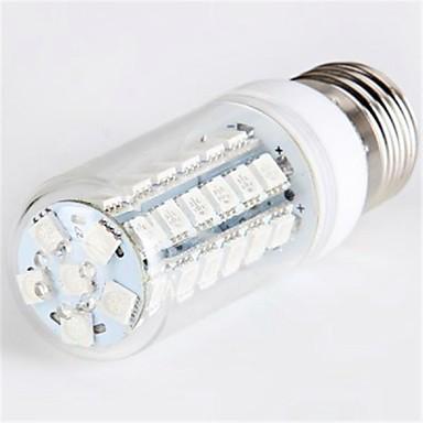 E26/E27 Becuri LED Corn T 48 led-uri SMD 5050 540lm Albastru AC 220-240