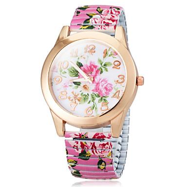 Dámské Módní hodinky Křemenný Slitina Kapela Květiny Černá Bílá Modrá Růžová