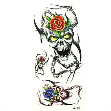 craniu frumusete impermeabil tatuaj temporar eșantion autocolant tatuaje mucegai pentru body art (18.5cm * 8.5cm)
