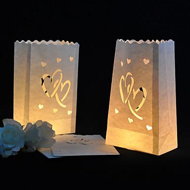 Kynttilät ja kynttilänjalat Monimateriaali Wedding Kunniamerkit Hääjuhla Puutarha-teema / Klassinen teema Kaikki vuodenajat