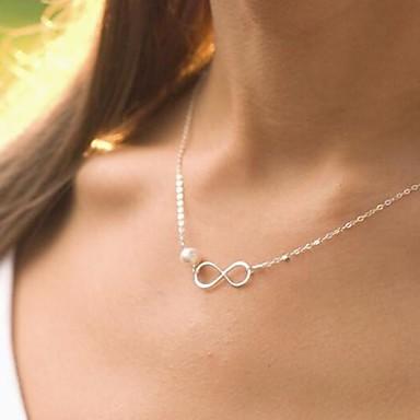 Silber Perlenkette - Perle Silber Modische Halsketten Schmuck Für Hochzeit, Party, Geschenk