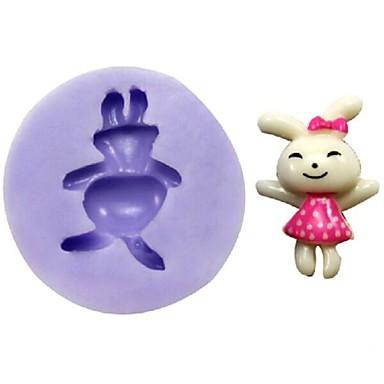 кролик помадкой торт шоколадный смолы глины конфеты силиконовые формы, l3.1cm * w3cm * h1cm