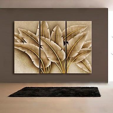 Stampe a tela astratto fantasia botanica tre pannelli for Stampe da parete