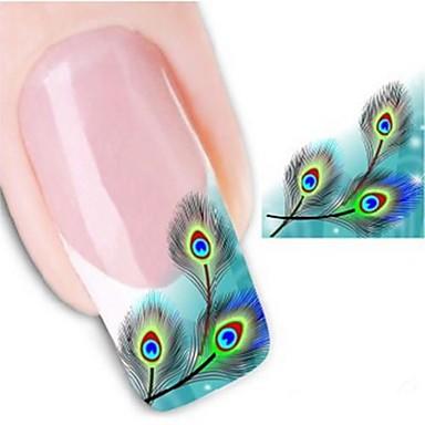 1 pcs Vandoverførings klistermærke / Negle klistermærke Negle Dekaler / Nail Art DIY værktøj tilbehør Klistermærker / Nail Art Design