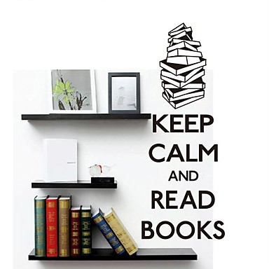 Wall Stickers Wall Decals Modern Keep Calm Reading Pvc