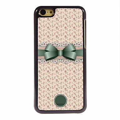 cadou personalizat Bowknot minunat și flori caz de metal de design pentru iPhone 5c
