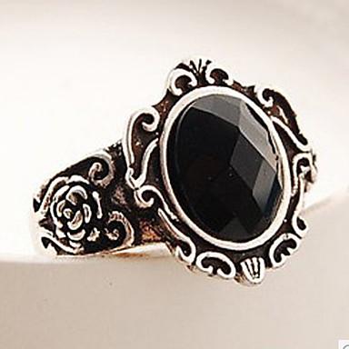 pierścionek ze stopu unisex z magicznym lustrem w klasycznym kobiecym stylu
