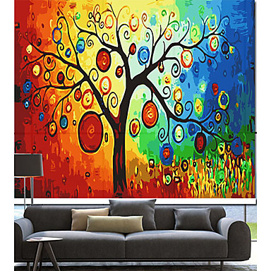 artistieke kleurrijke dromerige boom rolgordijn