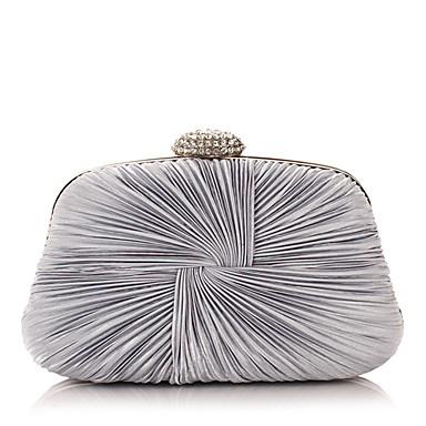 Kadın's Çantalar Polyester Gece Çantası Kristaller / Yapay Elmaslar için Davet / Parti Tüm Mevsimler Gümüş / Mor / Mavi