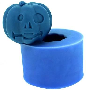 Halloween dovleac fondantă de tort de ciocolata lumânare silicon mucegai, l4.2cm * w4.2cm * h3.5cm