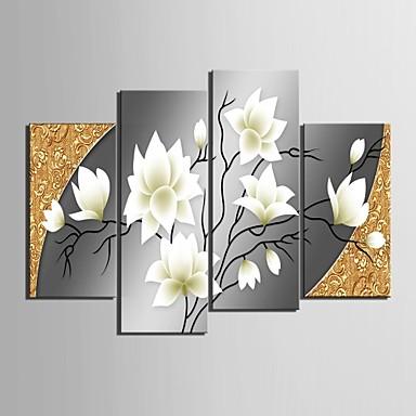 întinsă panza de arta flori frumoase set decorativ din 4