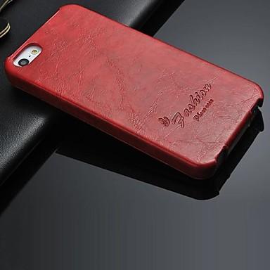 Maska Pentru iPhone 5 Carcasă iPhone 5 Întoarce Carcasă Telefon Culoare solidă Greu PU piele pentru iPhone SE/5s iPhone 5