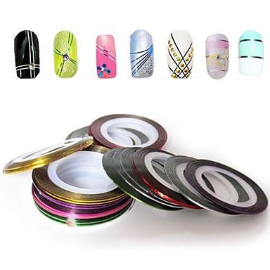 12 pcs Foil Stripping Tape Abstract / Modă Zilnic Nail Art Design