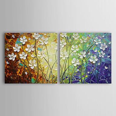 Peint à la main Abstrait Format Horizontal Toile Peinture à l'huile Hang-peint Décoration d'intérieur Deux Panneaux