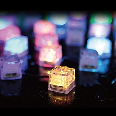 36pcs кубики льда привело свет партия свадьба ресторан рождество бар
