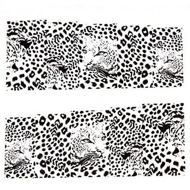 1 pcs 3D Negle Stickers Vannoverføringsklistre Neglekunst Manikyr pedikyr Smuk Punk / Mote Daglig / 3D Nail Stickers
