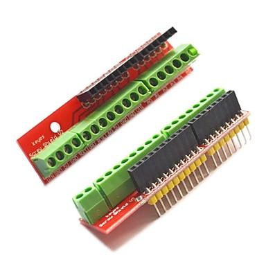 skrue skjold v2 terminal utvidelseskort for Arduino - rød (2 stk)