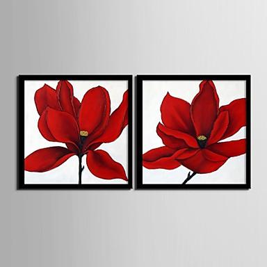 Цветочные мотивы/ботанический Холст в раме / Набор в раме Wall Art,ПВХ Черный Без коврика с рамкой Wall Art