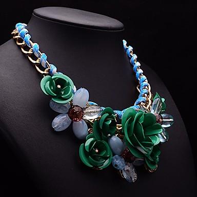 великолепный ожерелье цветок камень вечности женщин