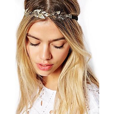Damen Retro / Elegant, vergoldet / Aleación Stirnband / Stirnbänder / Stirnbänder / Blattform