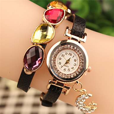 elegante strass's abby vrouwen&pu armband horloge