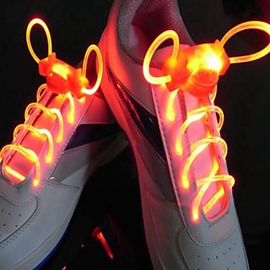 LED Sport Schnürsenkel Glühen Schuhschnüre Runde Blitzlicht Schnürsenkel Leuchtschnürsenkel