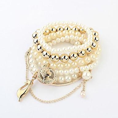 Damen Bettelarmbänder - Freizeit / Mehrlagig Weiß Armbänder Für Weihnachts Geschenke
