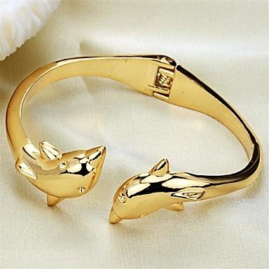 delfini de personalitate de moda ms placare brățară de aur 18k