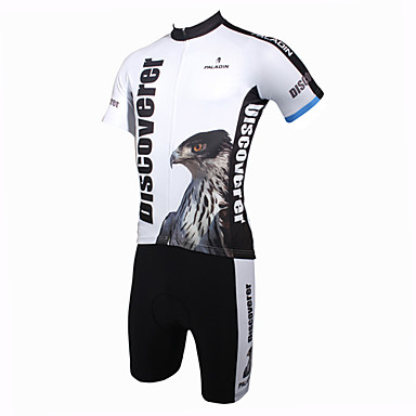 ILPALADINO Men's Short Sleeves Cycling Jersey with Shorts Cartoon Animal Bike Clothing Suits, Quick Dry, Ultraviolet Resistant, Breathable
