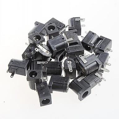 kvinnelige dc strømkontakten stikkontakten, dc-005, 5.5-2.1mm fatning (20stk)