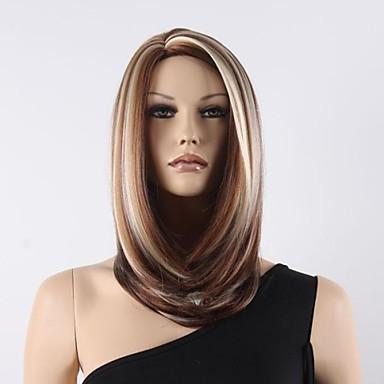 женщины среднего вьющиеся цвет микс синтетические парики