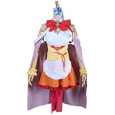 Inspiriert von Kein Spiel Kein Leben Cosplay Anime Cosplay Kostüme Cosplay Kostüme Patchwork Ärmellos Kleid / Kopfbedeckung / Armband Für Damen
