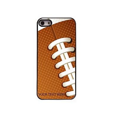 персонализированные телефон случае - регби дизайн корпуса металл для iPhone 5 / 5s