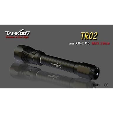 Tank007 TR02 LED Taschenlampen / Hand Taschenlampen LED 235lm 5 Beleuchtungsmodus Stoßfest / rutschfester Griff / Wiederaufladbar Camping
