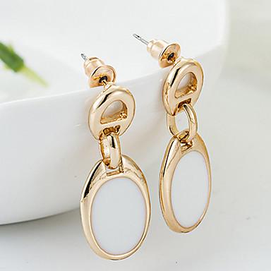 Naušnica Viseće naušnice Jewelry 2pcs Zlatno Žene Crna / Bijela