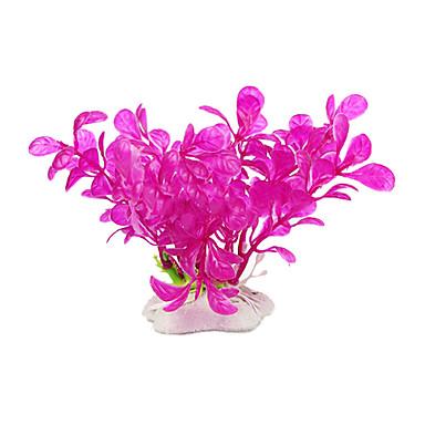Plastica artificiale fiore pianta vasca per i pesci d for Laghetto plastica