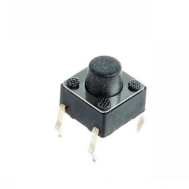 4-pins tact schakelaar tactiele drukknop schakelt diy 6x6x5mm (100 stuks)