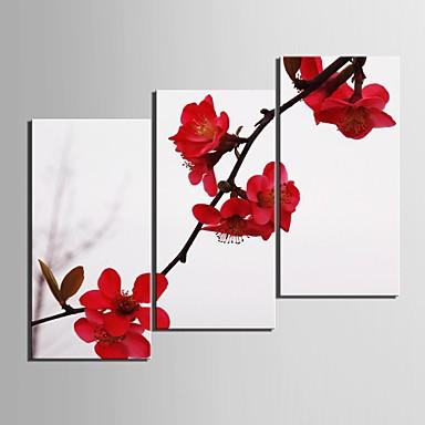 Botanic Trei Panouri Vertical Imprimeu Decor de perete Pagina de decorare