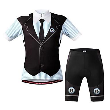 WEST BIKING® Herrn Kurzarm Fahrradtriktot mit Fahrradhosen Fahhrad Shorts/Laufshorts Bib - Shorts/Kurze radhose MIT Trägern