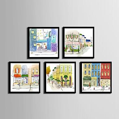 Framed Canvas / Framed Set - Architecture PVC Illustration