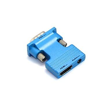 lwm® femeie HDMI la VGA masculin și 3,5 mm audio ieșire adaptor pentru PC LCD