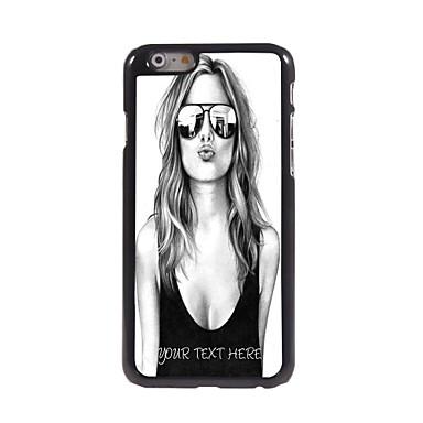 gepersonaliseerde telefoon geval - mooi meisje ontwerp metalen behuizing voor de iPhone 6